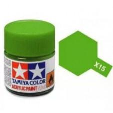 X15 vert pale - brillant -  Tamiya - peinture acrylique 10 ml