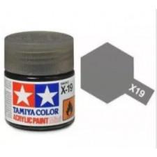 X19 fumée - brillant -  Tamiya - peinture acrylique 10 ml