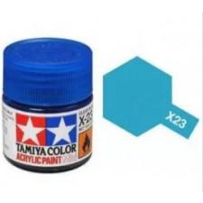 X23 bleu transparant - brillant -  Tamiya - peinture acrylique 10 ml
