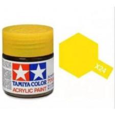 X24 jaune transparant - brillant -  Tamiya - peinture acrylique 10 ml