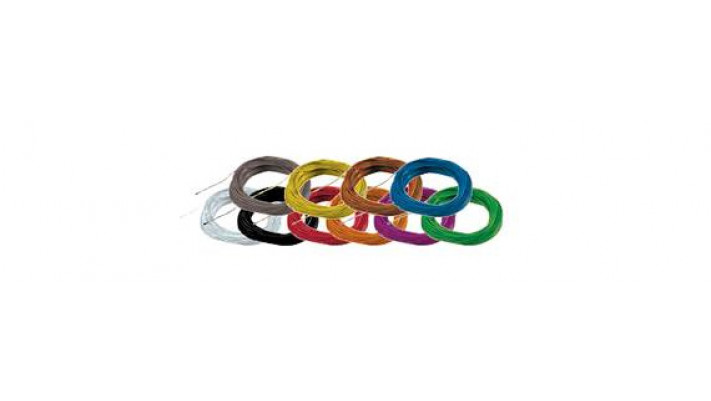 Hochflexibles Kabel, Durchmesser 0.5mm, AWG36, 2A, 10m Wickel, Farbe g
