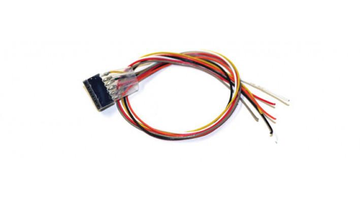 Kabelsatz mit 6-poliger Buchse nach NEM 651, DCC Kabelfarben, 30cm Län