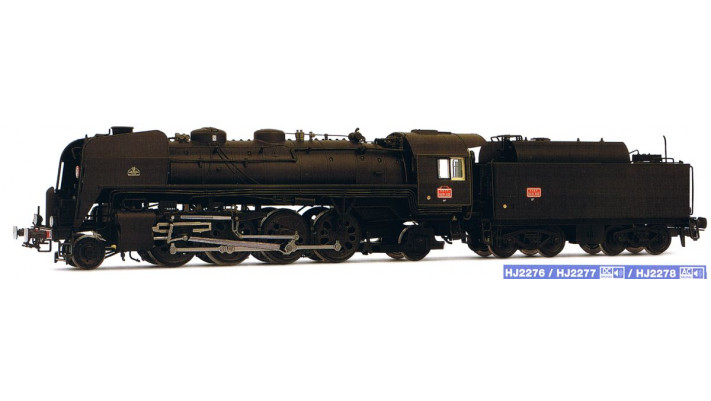 SNCF, steam locomotive 141.R.1155, green, with high capacity fuel tend