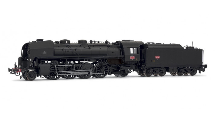 SNCF, steam locomotive 141.R.995 (Vierzon) with small fuel tender 30.R