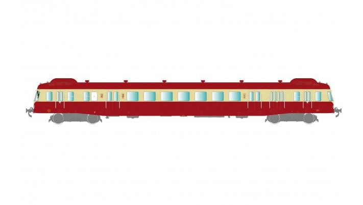 SNCF, autorail  X 2400 rouge/creme ep III