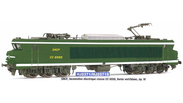 SNCF, loco CC 6550 in green/yellow  , period IV, with digital sound de