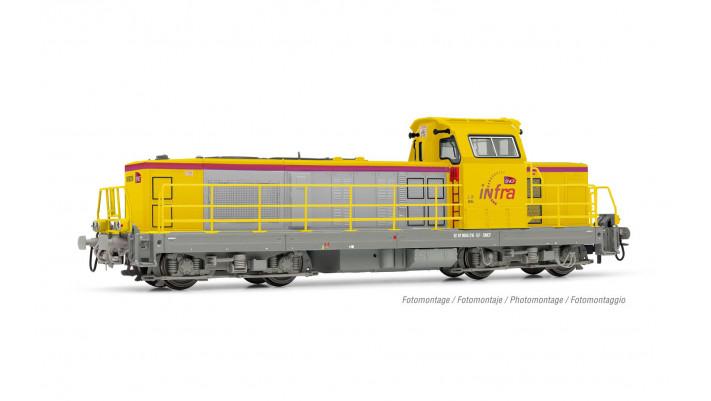 SNCF Infra, loc diesel BB 669126, livrée jaune, ép. VI