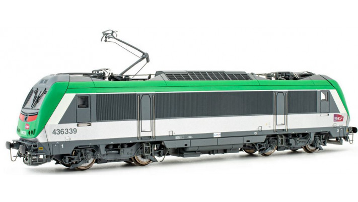 SNCF,  electric  BB 436339, green livery for AFA, period V-VI, with DC
