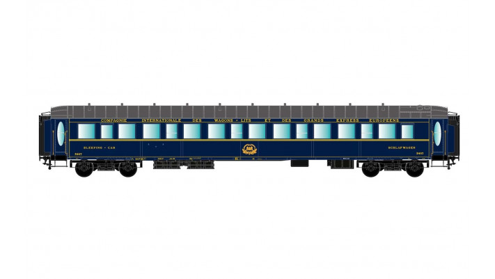 CIWL, sleeping car type Lx in blue livery, with interior lights, perio
