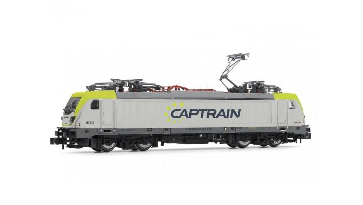 Captrain, BR 187, electric locomotive, silver-green livery, epoch VI