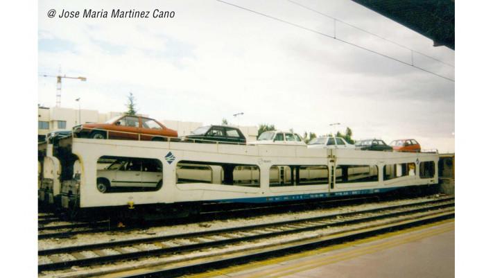 RENFE, set de 2 unités, fourgon porte-automobiles DDMA, livrée blanc,