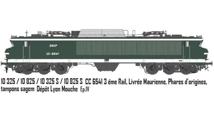 sncf CC 6541, Maurienne, inscriptions blanches,  3e rail /  Ep. IV  /