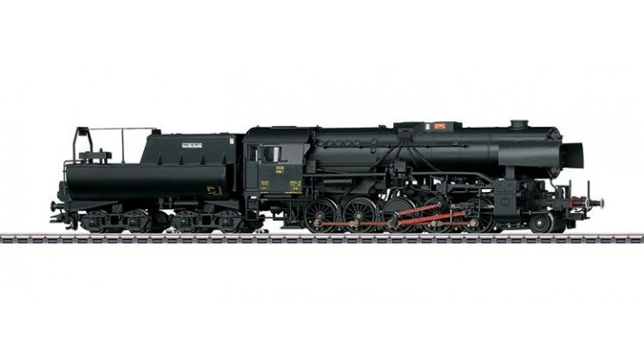 Locomotive à vapeur lourde, série 5519, avec tender bassine pour train