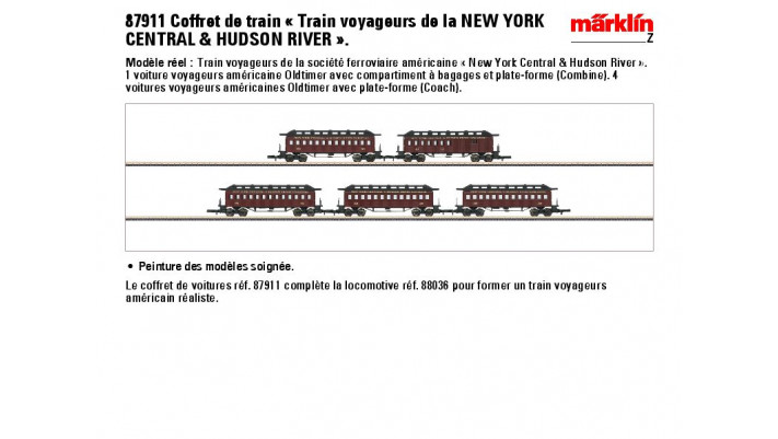 Wagenset Reisezug NYC <(>&<)>