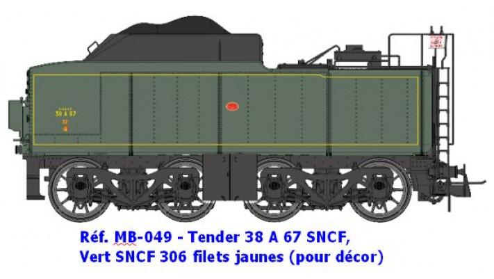 TENDER 38A 67   POUR DECORS