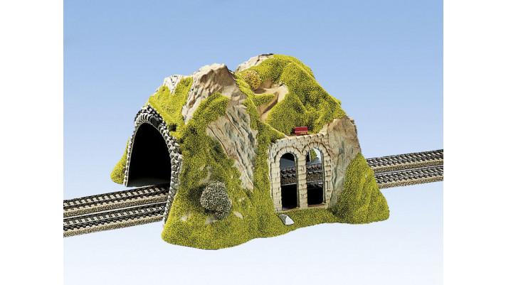 Tunnel Droit, 2 Voies, 30 x 28 cm