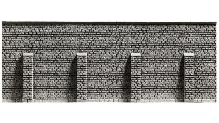 Mur de soutènement, long