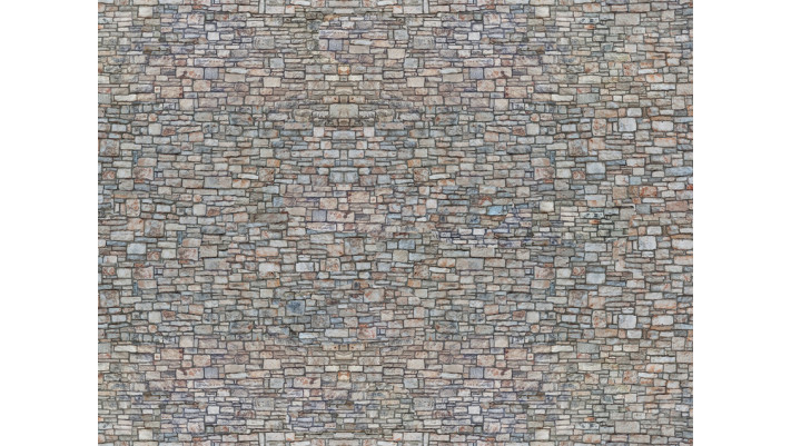 Feuille de carton 3D  Mur de Moellon , multicolore ,