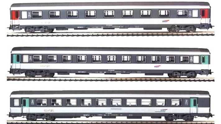 Set de 3 voitures Corail