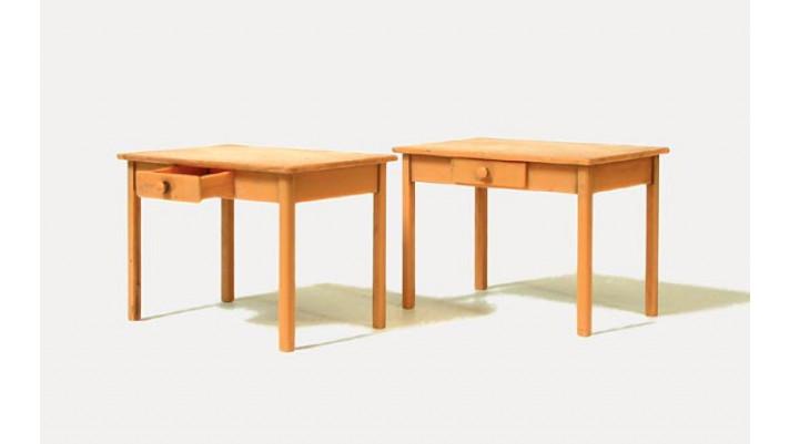 tables, 2 pièces, non peintes