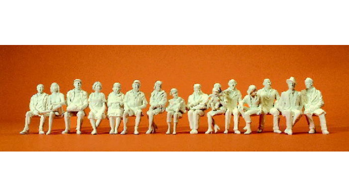 15 figurines passagers assis