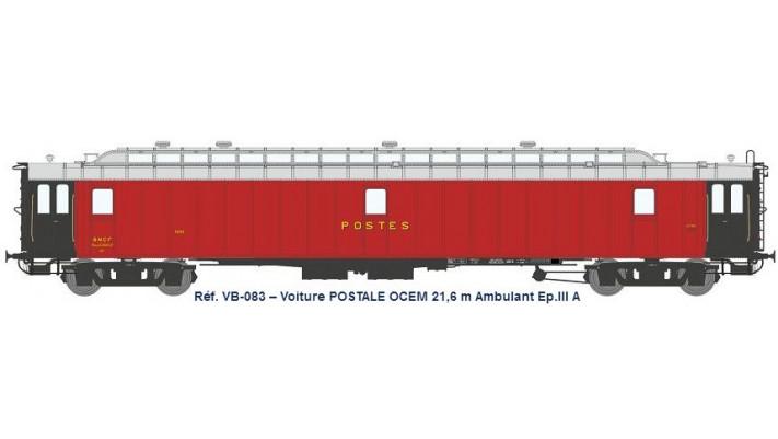 AMBULANT 21,6 m Ep.III A- PAmyi rouge foncé, toit gris clair, échelle,