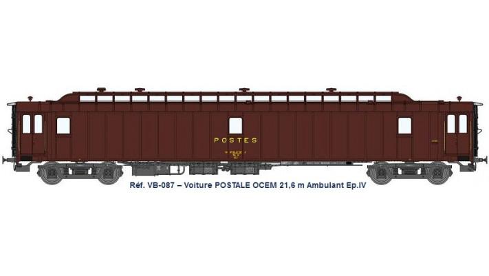 AMBULANT 21,6 m Ep.IV - PAz brun PTT, toit gris, châssis gris, Bogie Y