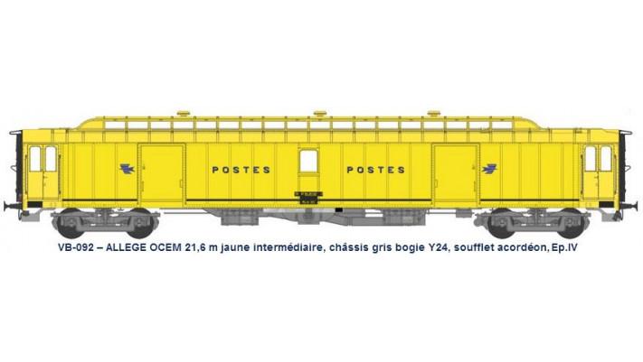 ALLEGE 21,6 m Ep.IV jaune intermédiaire, châssis gris, bogie Y24, souf