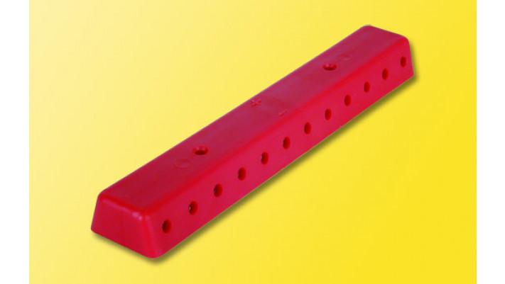2 Verteilerleisten, rot, mit Schrauben