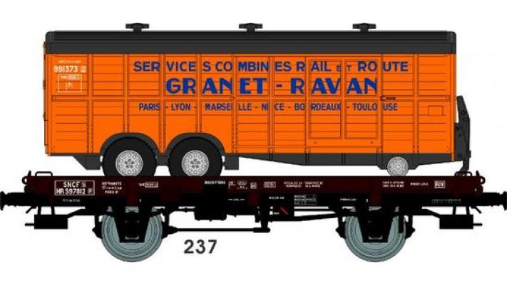 Wagon UFR MonoPorteur Ep.III Remorque double essieux   GRANET RAVAN