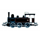SNCF 030 steam locomotive, black/red livery