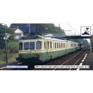 SNCF, 2-unit railcar X2700 in green/yellow  , period IV