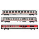 Set x 3 coaches   IC train  DB white/red