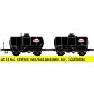 Coffret de 2 wagons OCEM citerne avec/sans passerelle, noir, ESSO
