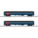 Reisezugwagen-Set, 2 Wagen, DSB, Ep. IV