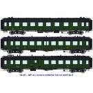 SNCF SET de 3 OCEM RA Toit noir (A3B5myfi  3469 / C9myfi  12114 / B4Dm