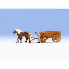 Chariot à foin