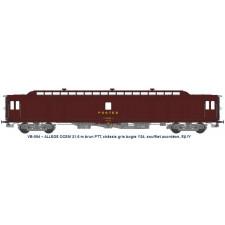 ALLEGE 21,6 m Ep.IV brun PTT, châssis gris, bogie Y24, soufflet, PEz N